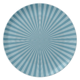 Radial Circular Weaving Pattern - Blue Plate