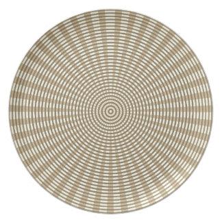 Radial Circular Weaving Pattern - Khaki Plate
