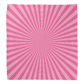 Radial Circular Weaving Pattern - Pink Bandana