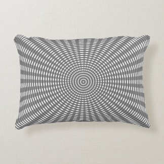 Radial Circular Weaving Pattern - Silver Decorative Pillow