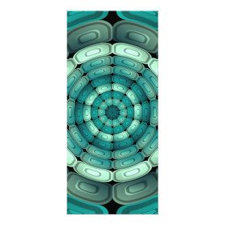Radial dark turquoise custom rack cards