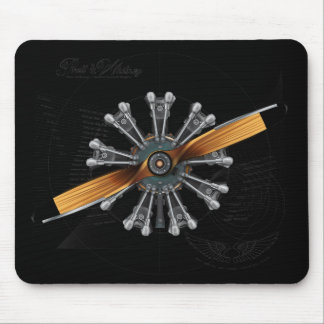 Radial Engine Engineering Version Mouse Pad