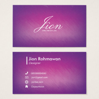 Radial Gradient Texture Pink Purple Business Card
