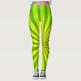 Radial green leggings