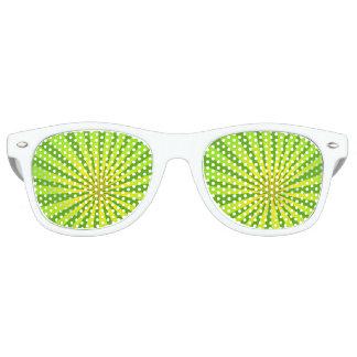 Radial green retro sunglasses