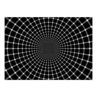 Radial Optical Illusion Poster