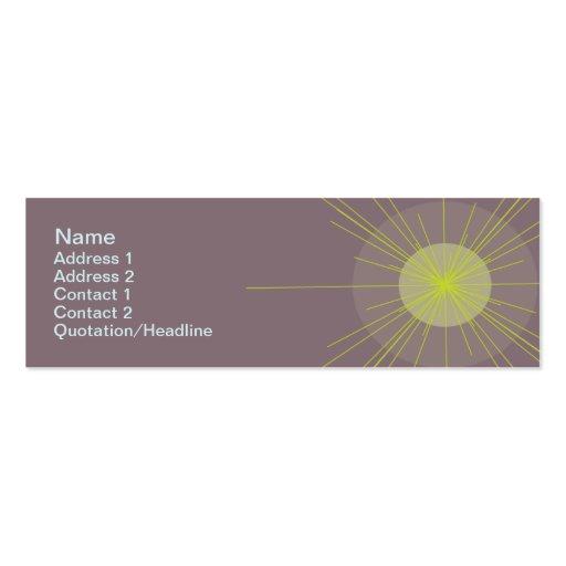 Radial - Skinny Mini Business Card