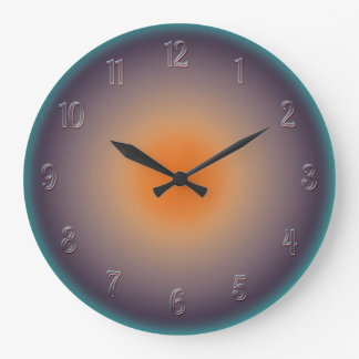 Radial Sunset with Illuminated Effect Wall Clock
