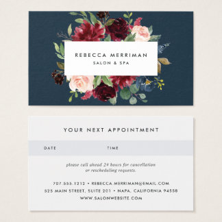 Radiant Bloom Appointment Business Card