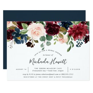 Radiant Bloom Bridal Shower Invitation