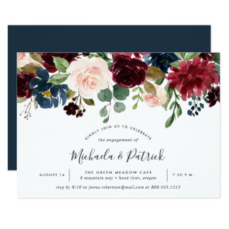 Radiant Bloom Engagement Party Invitation