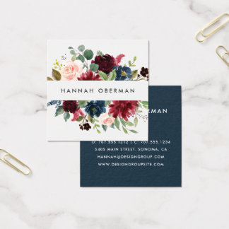 Radiant Bloom | Floral Square Business Card