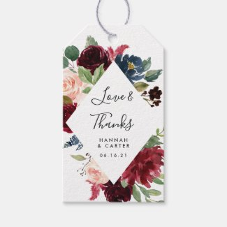 Radiant Bloom | Wedding Favour Gift Tags