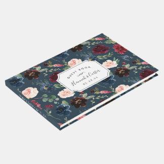 Radiant Bloom Wedding Guest Book