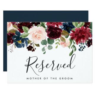 Radiant Bloom Wedding Reserved Sign Card