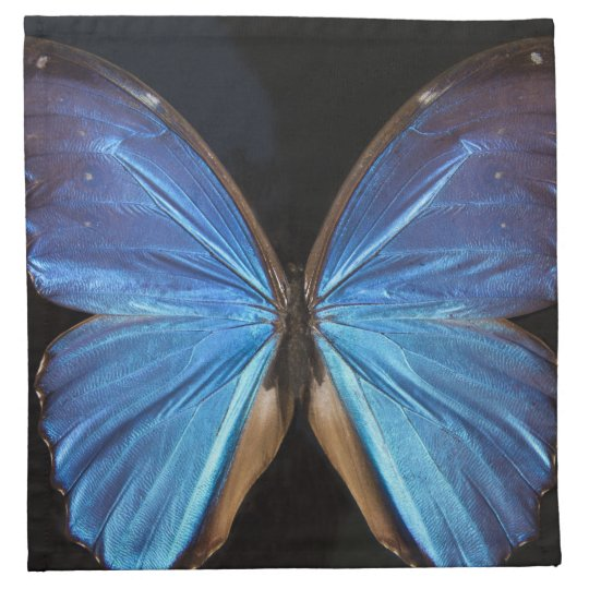 Radiant Blue Butterfly Printed Napkin