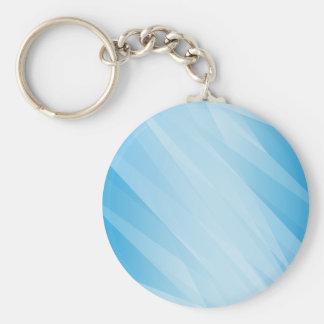 Radiant blue cover design basic round button keychain