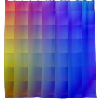 Radiant Blue Cube Shower Curtain