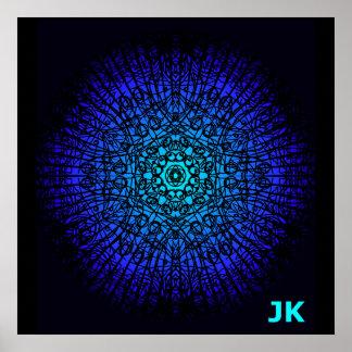 Radiant Blue Poster