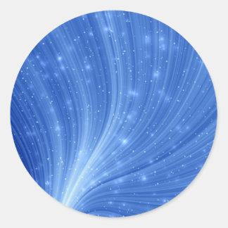Radiant Blue Round Sticker
