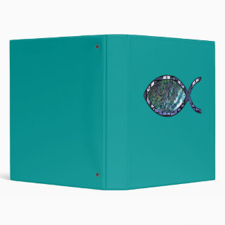 Radiant Christian Fish Symbol Vinyl Binders
