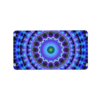 Radiant Core Mandala Label
