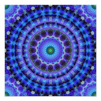 Radiant Core Mandala Poster
