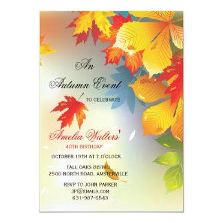 Radiant Fall Colors Invitation
