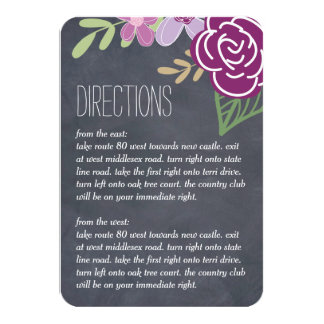 Radiant Florals Wedding Directions Cards