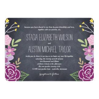Radiant Florals Wedding Invitation - Purple