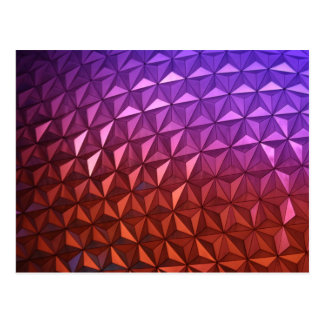Radiant Geometric Post Card