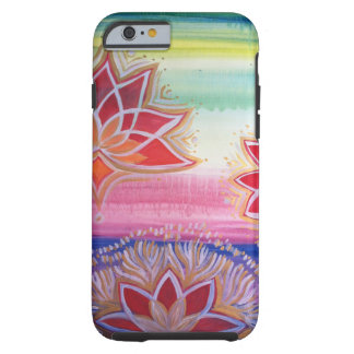 Radiant hand painted Lotus flower Tough iPhone 6 Case