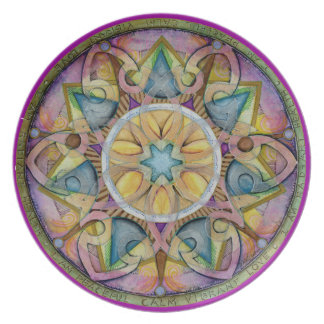Radiant Health Mandala Art Plate