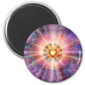 Radiant Heart 2 Inch Round Magnet