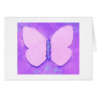 Radiant orchid butterflies blank greeting card