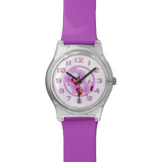 Radiant Orchid Closeup Photo with Circular Frame Watches