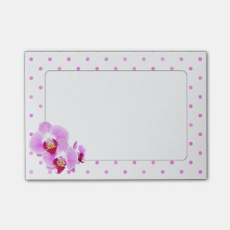 Radiant Orchid Closeup Photograph on Polka Dots Post-it Notes
