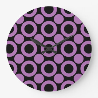 Radiant Orchid Dot 3 Wall Clock