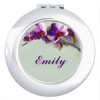 Radiant Orchid Flower Personalized Compact Mirror