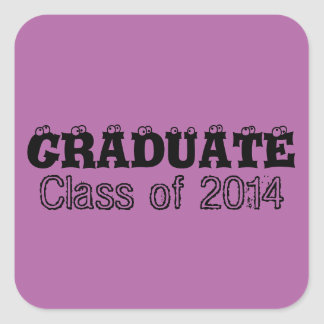 Radiant Orchid Graduation Class of 2014 Stickers