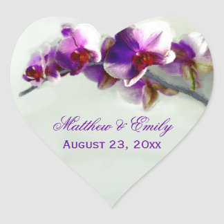 Radiant Orchid Painting Heart Sticker