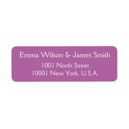Radiant Orchid Personalized Return Address Labels