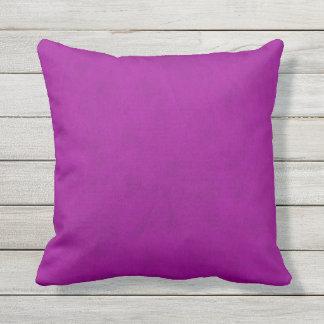 Radiant Orchid Purple Velvet Look Outdoor Pillow