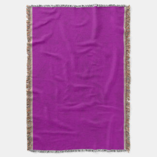 Radiant Orchid Purple Velvet Look Throw Blanket