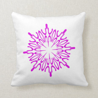 Radiant Orchid Snowflake Throw Pillow