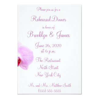 Radiant Orchid Wedding Rehearsal Invitations