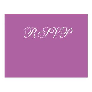Radiant Orchid Wedding RSVP Postcards