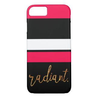 radiant pink and black striped case