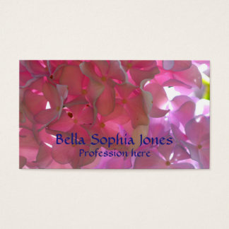 Radiant Pink  Hydrangea business card