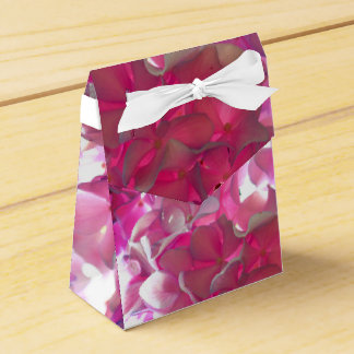 Radiant Pink Hydrangea Favor Box